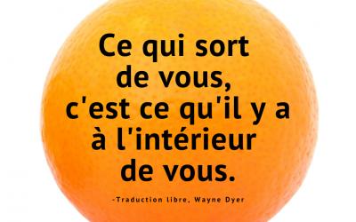 Qu'est-ce qui sort de votre orange?